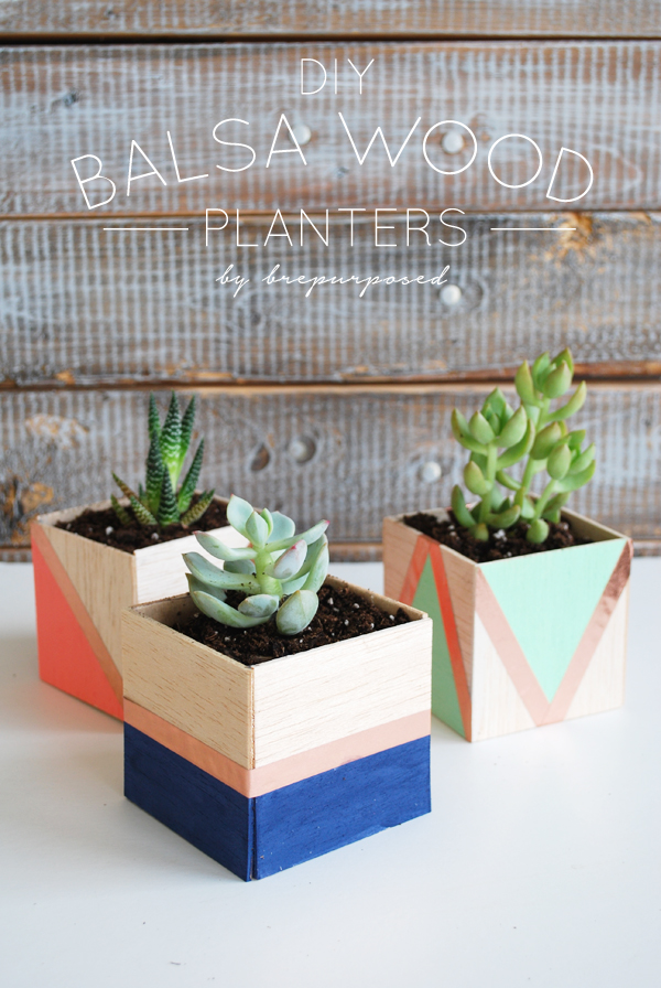 diy balsa wood planter tutorial