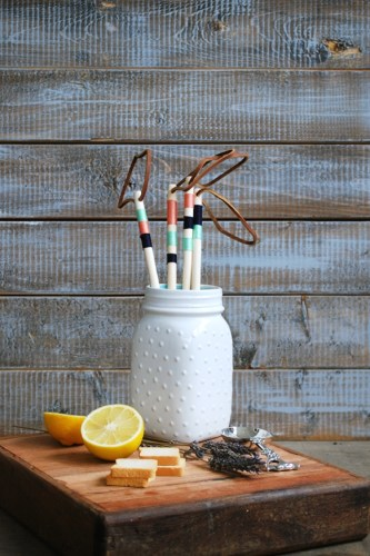 DIY String Wrapped Wooden Utensils :: Monthly DIY Challenge