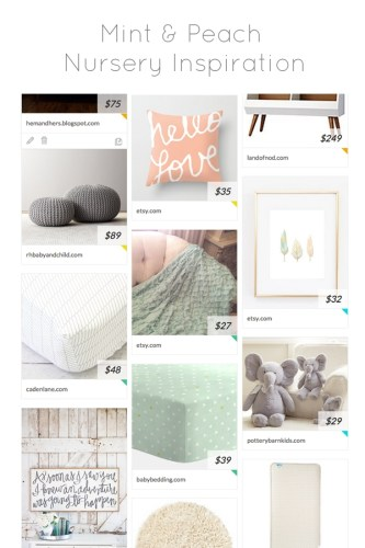 Mint and Peach Nursery Inspiration + A Giveaway