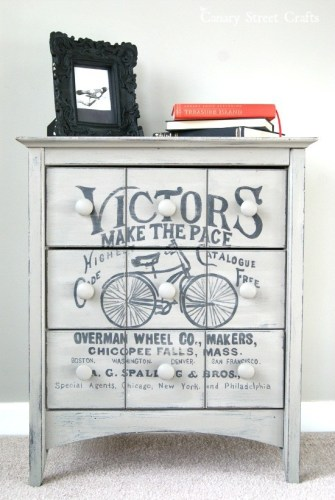 Vintage Bicycle Ad Table