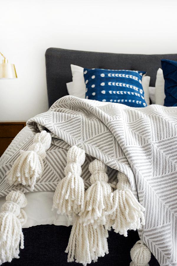 DIY Giant Tassel Throw Blanket