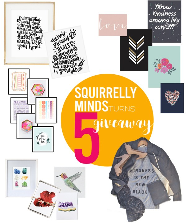Squirrely Minds Giveaway