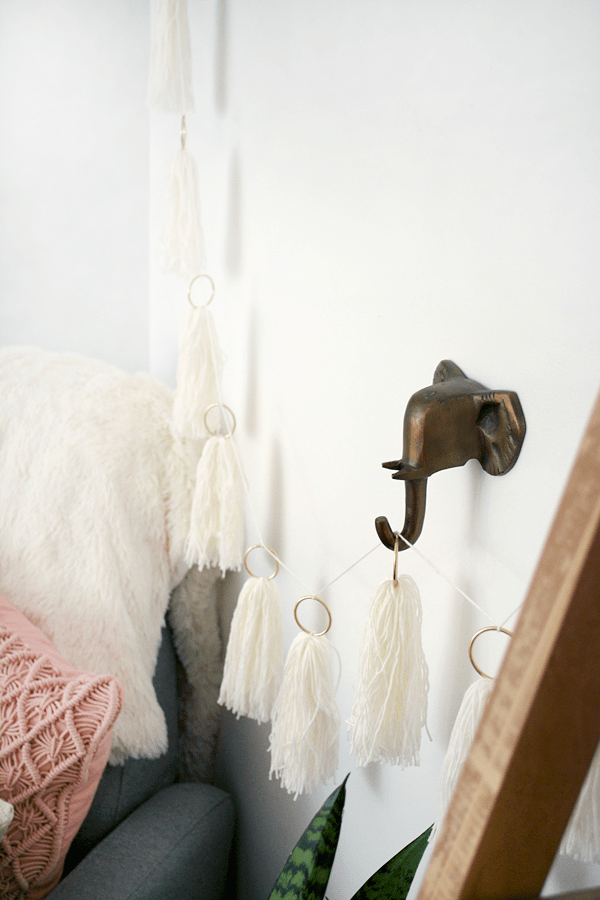 DIY String Tassel Garland