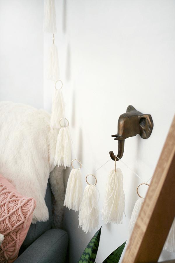 DIY String Tassel Garland