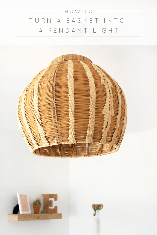 Step by step instructions on How to Turn a Basket into a Pendant Light and save you a ton of money!