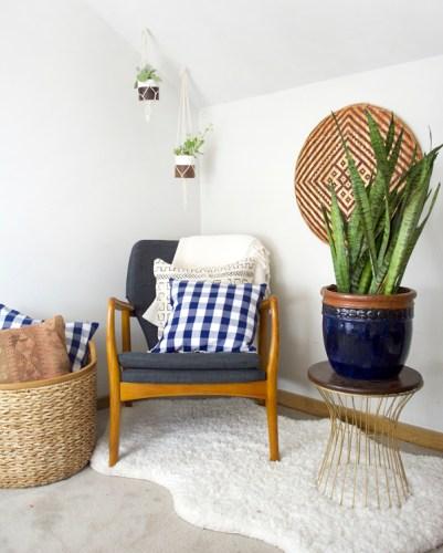 DIY Buffalo Check Napkin Pillows