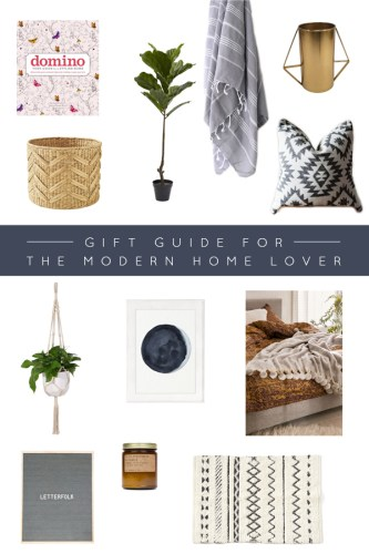 Gift Guide for the Modern Home Lover