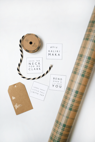 Free Christmas Vacation Printable Gift Tags