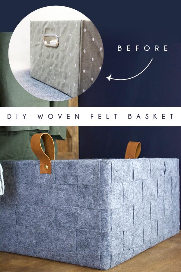 DIY Woven Felt Basket
