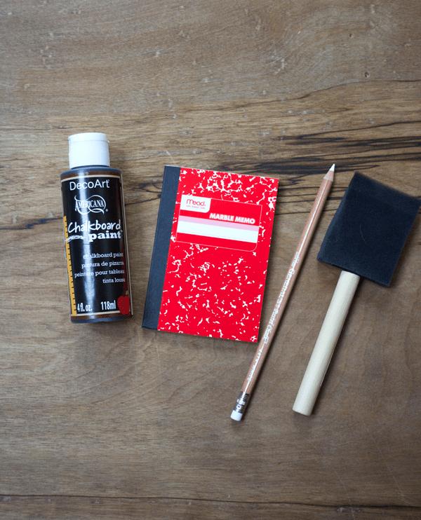 DIY Mini Chalkboard Notebooks
