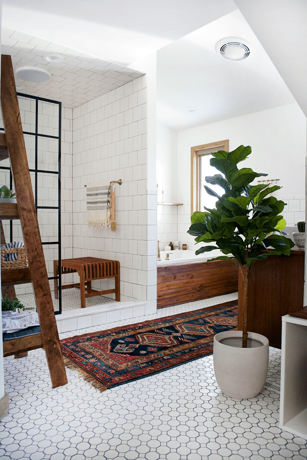 modern vintage bathroom reveal - brepurposed