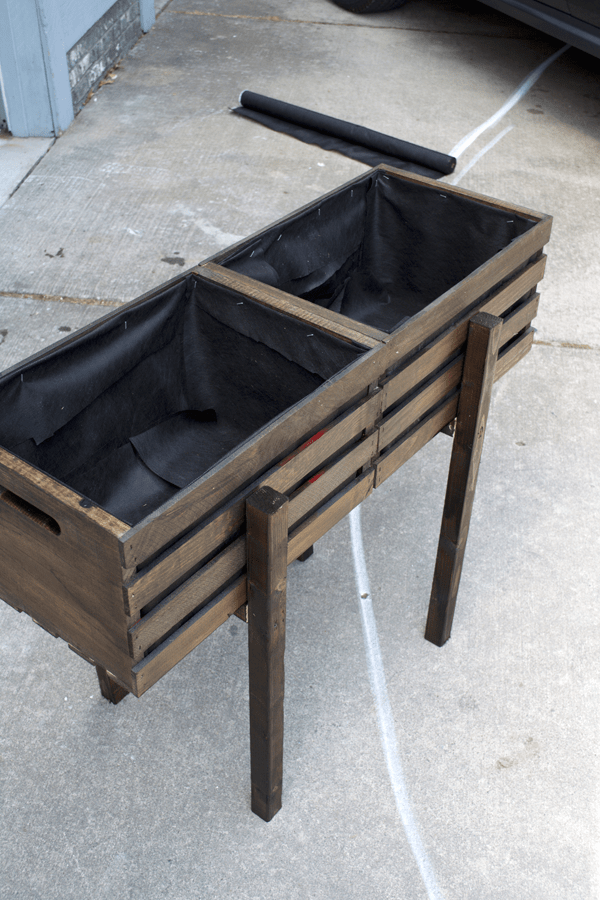 Modern Raised Crate Planter