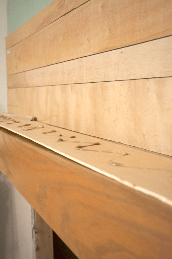 PL-400 is used to reinforce shiplap before hanging