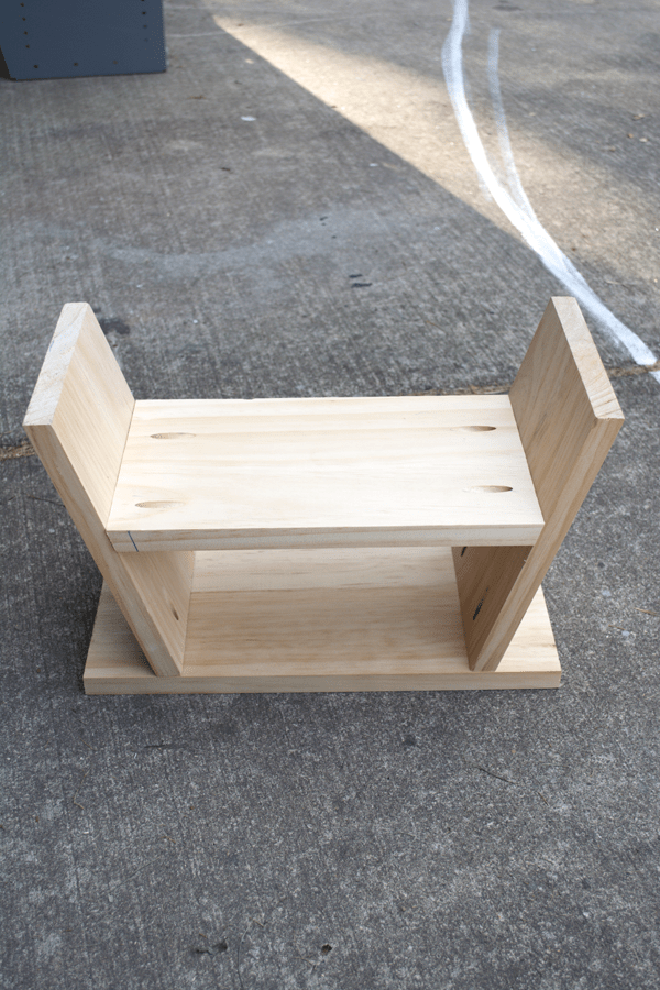 DIY Modern Step Stool with Pocket Holes