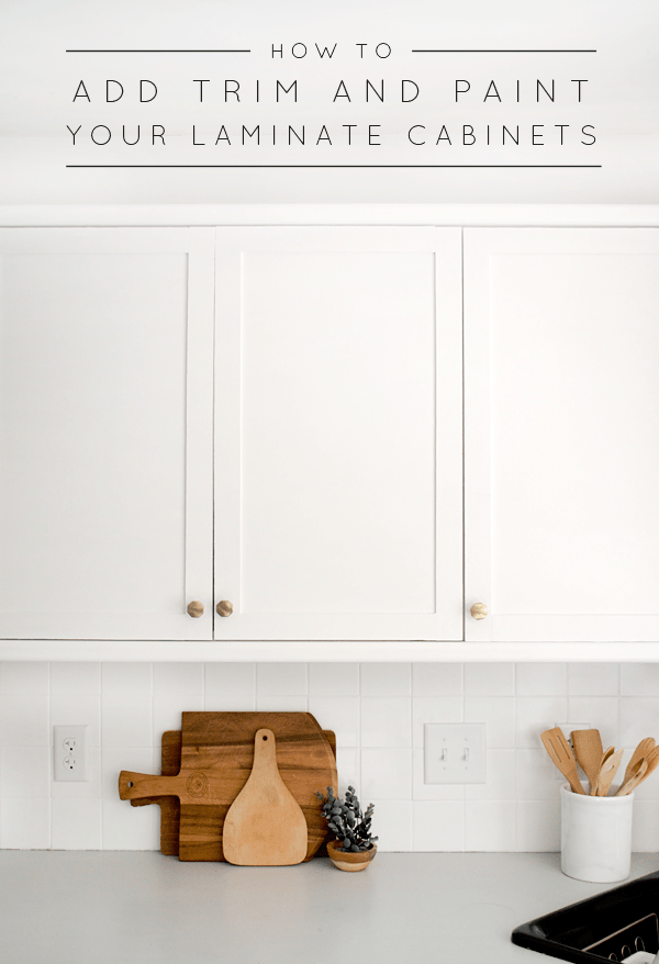 Exceptionnel How To Add Trim And Paint Your Laminate Cabinets
