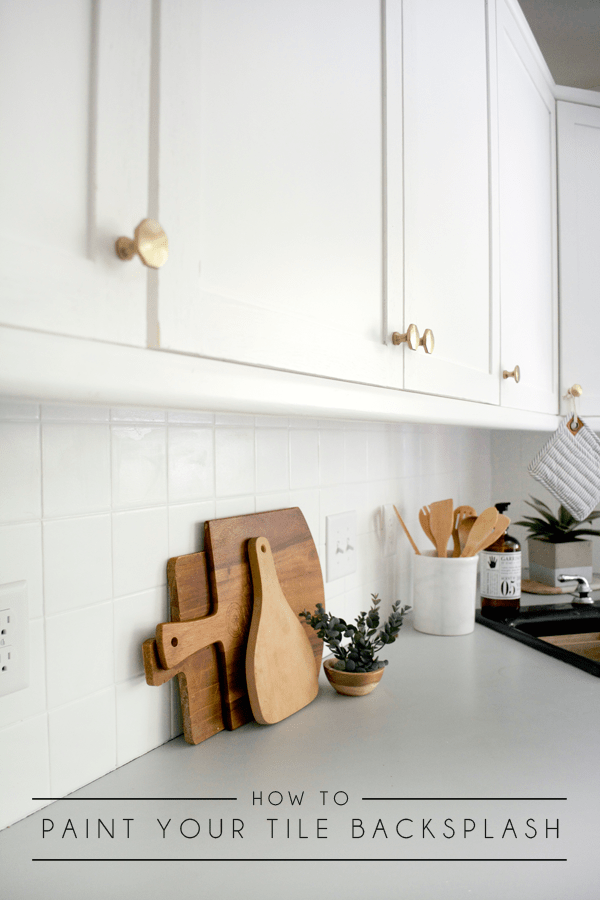 How To Paint Your Tile Backsplash Brepurposed