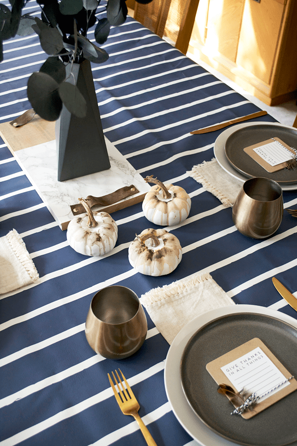 Modern Fall Place Setting, Neutral Fall Tablscape, Neutral Fall Decor