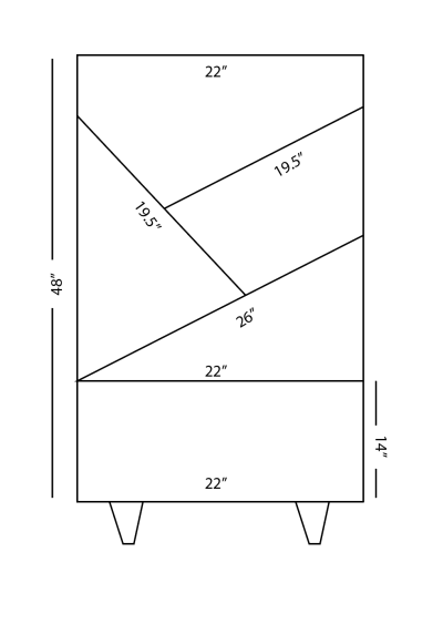 building plans for bookcase with angled shelves