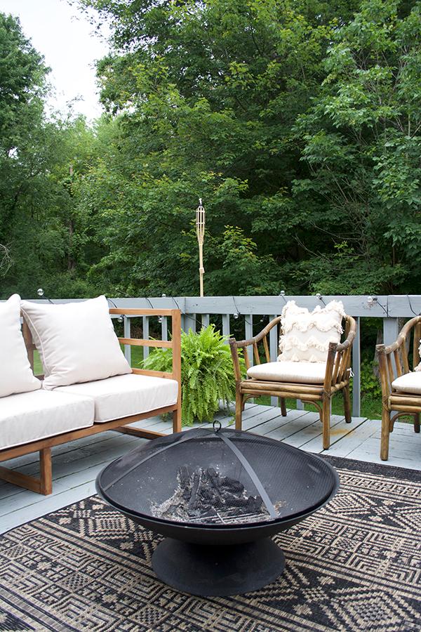 Modern Backyard Furniture modern outdoor porch makeover | brepurposed