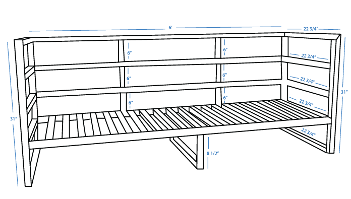 building plans for an outdoor couch
