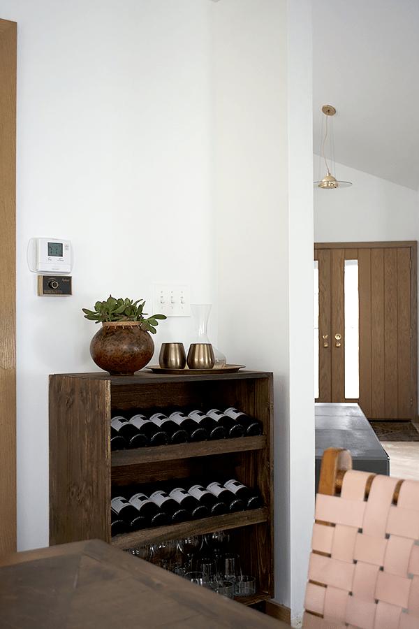 DIY Slanted Wine Rack