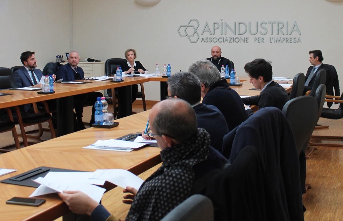 La presentazione dei dati nella sede di Apindustria Brescia