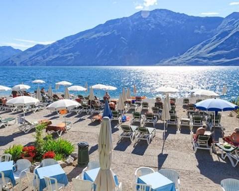 Hotel con spiaggia privata a Limone del Garda