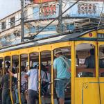 Vue du Bondé, le tramway populaire de santa Teresa à Rio