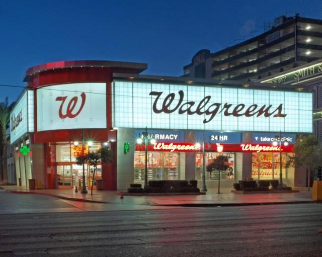 Walgreens MGM Strip Dawn Photo - Northwest Entrance Corner