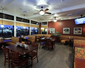 Interior photo of the new Blueberry Hill Restaurant at Flamingo and Decatur