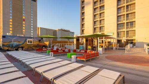 Plaza Hotel & Casino in Las Vegas, Nevada - Pool Deck Renovation 2016