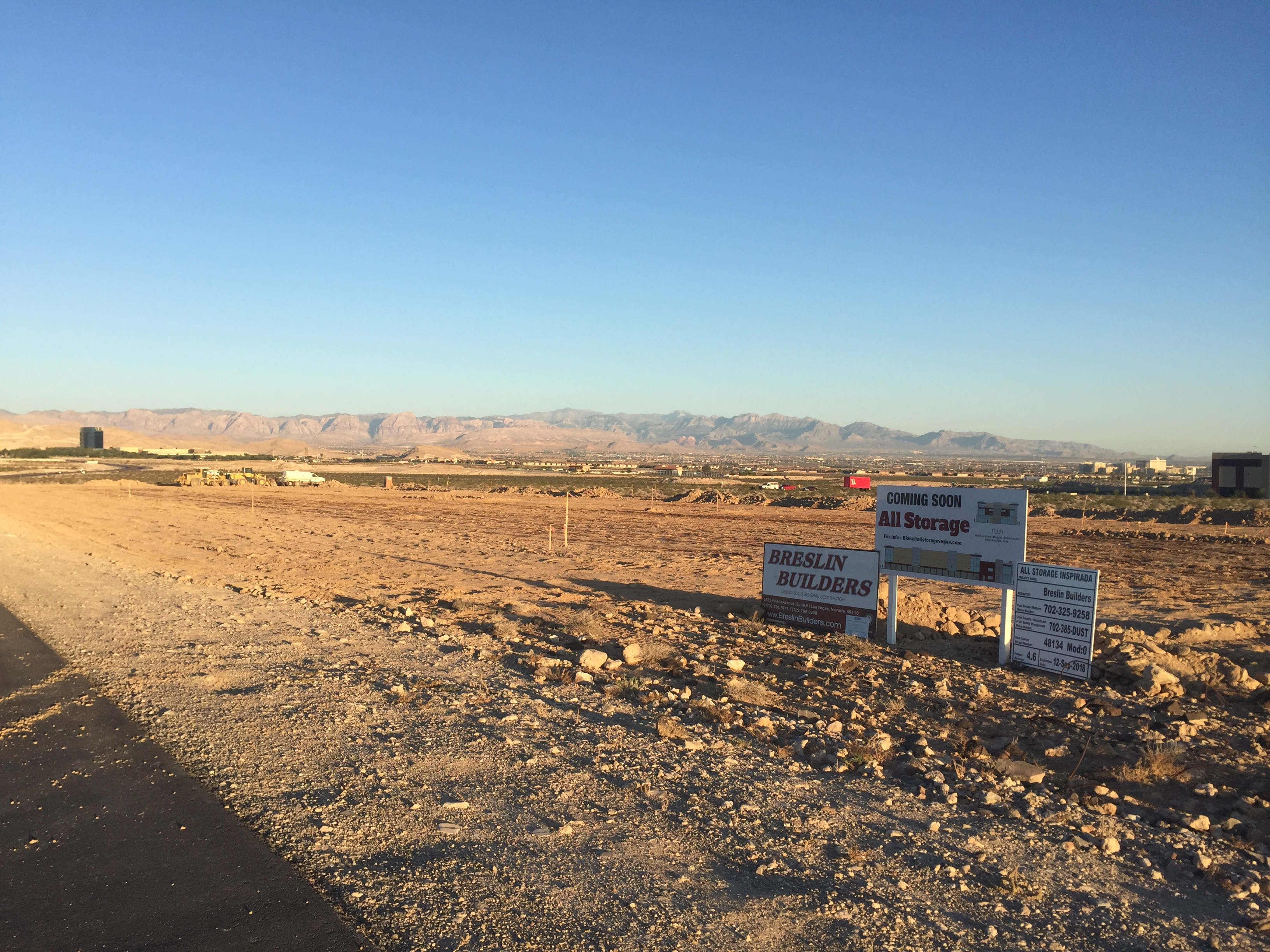 Ground Work Has Begun On The New All Storage Inspirada Mini Storage Project  In Henderson, Nevada, Adjacent To The Henderson Executive Airport.