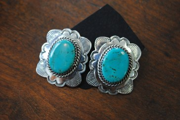 turquoise & sterling Navajo earrings