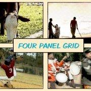 four panel grid