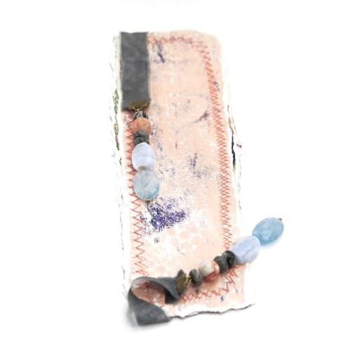 bookmark_original_artwork_silk_hand_dyed_ribbon_gemstone_crystal_aquamarine_black_zebra_front
