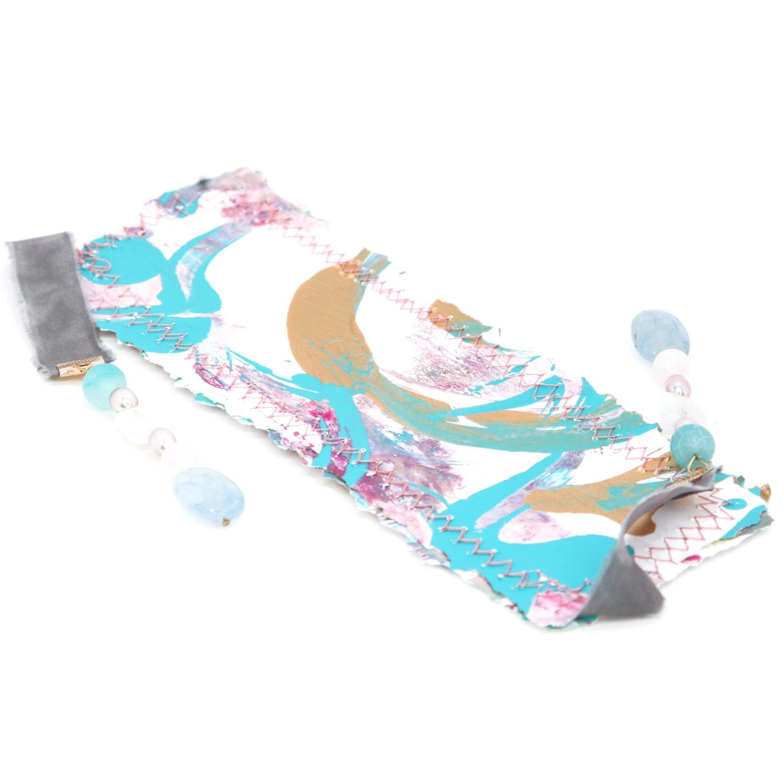bookmark_original_artwork_silk_hand_dyed_ribbon_gemstone_crystal_aquamarine_pearl_moonstone_front