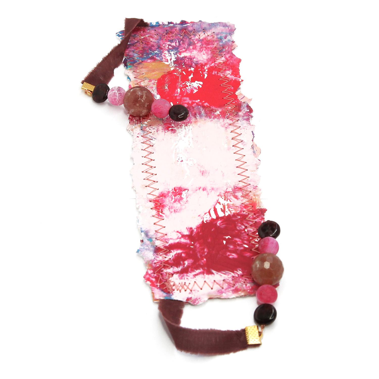 bookmark_original_artwork_silk_hand_dyed_ribbon_gemstone_crystal_garnet_hot_pink_back