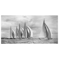 Black and White, Silver gelatine Photograph of sailing yachts Britannia, Astra, Velsheda, candida and Shamrock taken by Frank Beken in 1934. This picture was scanned from original negative form period. Available for sale at Brett Gallery. Beken of Cowes Framed Prints, Beken of Cowes archives, Beken of Cowes Prints, Beken Archive, Cowes Week old Photographs, Beken Prints, Frank beken of Cowes.
