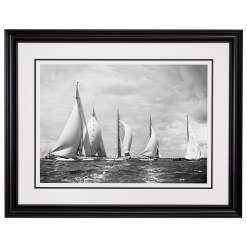 Stunning Black and white photograph of sailing yachts Britannia, Velsheda, Shamrock, Astra and Candida. This photograph was taken in 1934 by Frank Beken. For sale at Brett Gallery. Beken of Cowes Framed Prints, Beken of Cowes archives, Beken of Cowes Prints, Beken Archive, Cowes Week old Photographs, Beken Prints, Frank beken of Cowes.