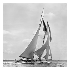 Black and White, stunning, silver gelatine photograph of sailing boat Germania taken by Frank Beken in 1908. This stunning photograph was scanned from original glass plate negative. Available to buy form Brett Gallery in different sizes. Beken of Cowes Framed Prints, Beken of Cowes archives, Beken of Cowes Prints, Beken Archive, Cowes Week old Photographs, Beken Prints, Frank beken of Cowes.