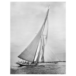 Unframed Black and White, Silver Gelatin, Limited edition Photograph of sailing yacht Meteor 2 and Ailsa. Taken by a famous marine photographer Frank Beken in 1911. This photograph was scanned from original glass plate negatives and developed in the dark room as they used to do it period. Available to purchase in deferent sizes from Brett Gallery. Beken of Cowes Framed Prints, Beken of Cowes archives, Beken of Cowes Prints, Beken Archive, Cowes Week old Photographs, Beken Prints, Frank beken of Cowes.