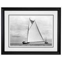 Framed Limited edition, Silver Gelatin, Black and White Photograph of sailing boat Shamrock 1. Taken by a famous marine photographer Frank Beken in 1899. Available to purchase in various sizes from the Brett Gallery. This picture was developed in the darkroom and scanned from original glass plat negative from period.Beken of Cowes Framed Prints, Beken of Cowes archives, Beken of Cowes Prints, Beken Archive, Cowes Week old Photographs, Beken Prints, Frank beken of Cowes.