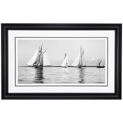 Framed Limited edition, Silver Gelatin, Black and White Photograph of sailing boats at Start Ryde Kings Cup. Taken by a famous marine photographer Frank Beken in 1906. Available to purchase in various sizes from the Brett Gallery. This picture was developed in the darkroom and scanned from original glass plat negative from period.Beken of Cowes Framed Prints, Beken of Cowes archives, Beken of Cowes Prints, Beken Archive, Cowes Week old Photographs, Beken Prints, Frank beken of Cowes.