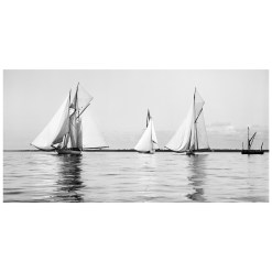 Unframed Black and White, Silver Gelatin, Limited edition Photograph of sailing yachts at Start Ryde Kings Cup. Taken by a famous marine photographer Frank Beken in 1906. Available to purchase in various sizes from the Brett Gallery. This picture was developed in the darkroom and scanned from original glass plat negative from period. Beken of Cowes Framed Prints, Beken of Cowes archives, Beken of Cowes Prints, Beken Archive, Cowes Week old Photographs, Beken Prints, Frank beken of Cowes.