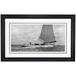 Framed Limited edition, Silver Gelatin, Black and White Photograph of sailing boat Velsheda sailing at sea. Taken by a famous marine photographer Frank Beken in 1936. Available to purchase in various sizes from the Brett Gallery. This picture was developed in the darkroom and scanned from original glass plat negative from period. Beken of Cowes Framed Prints, Beken of Cowes archives, Beken of Cowes Prints, Beken Archive, Cowes Week old Photographs, Beken Prints, Frank beken of Cowes.