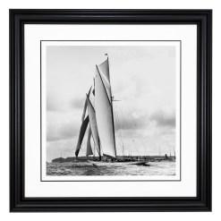 Framed Limited edition, Silver Gelatin, Black and White Photograph of sailing boat Westward sailing at sea. Taken by a famous marine photographer Frank Beken in 1920. Available to purchase in various sizes from the Brett Gallery. This picture was developed in the darkroom and scanned from original glass plat negative from period. Beken of Cowes Framed Prints, Beken of Cowes archives, Beken of Cowes Prints, Beken Archive, Cowes Week old Photographs, Beken Prints, Frank beken of Cowes.