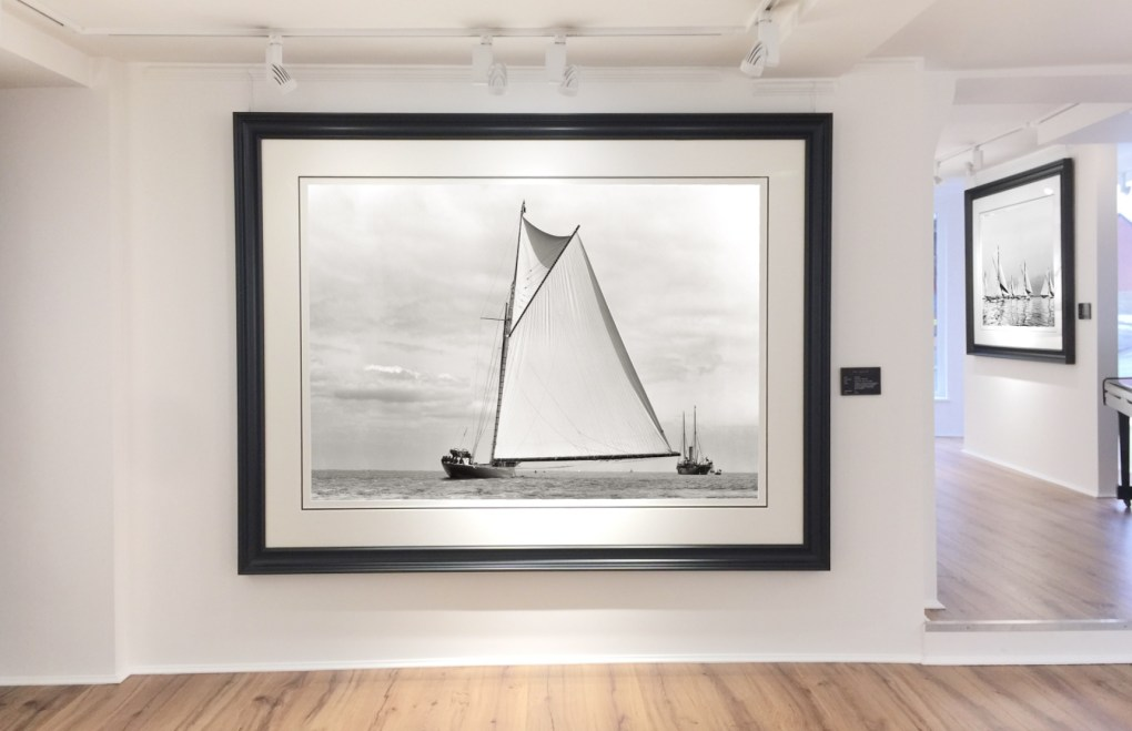 Large formate framing at Brett Gallery Landscape shape photograph