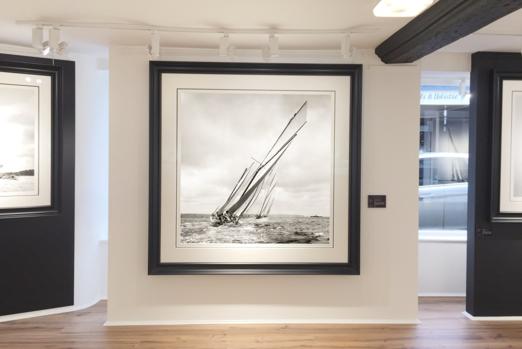 Large formate Framing square shape photograph at Brett Gallery