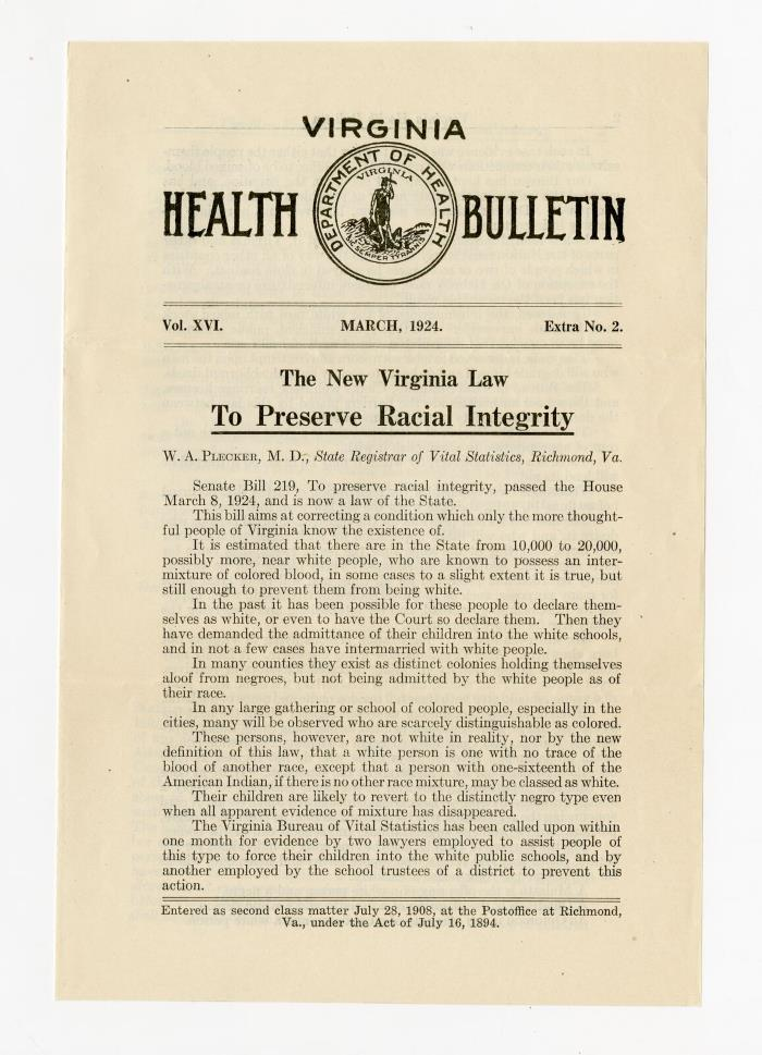 Racial Integrity Act of 1924