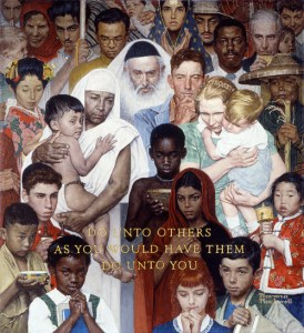 Norman Rockwell's The Golden Rule
